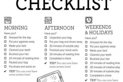 Checklist idea from Kids in the City