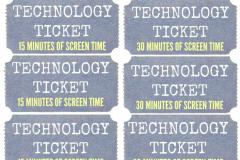 Tech ticket idea from Making Lemonade Blog